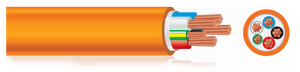 TFKABEL Orange Circular Power Cable, Oil, UV and Chemical Resistant, Flame Retardant - BNR Industrial