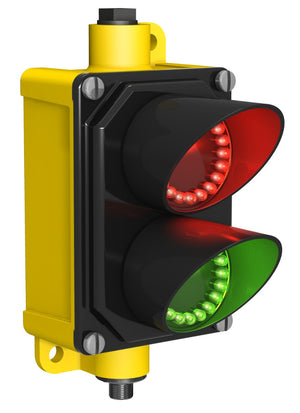 Banner SP250GRPQ EZ-LIGHT 2 Aspect Red/Green 15-30VDC IP65 Traffic Light - BNR Industrial - 3