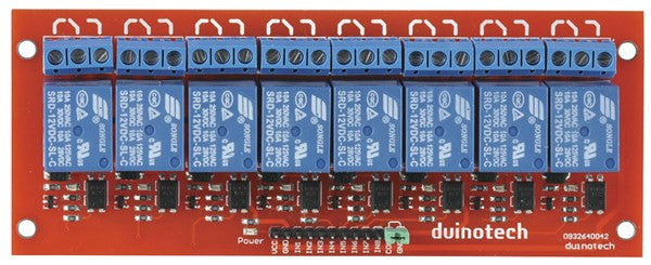 Duinotech Arduino Compatible 8 Channel Relay Board - BNR Industrial