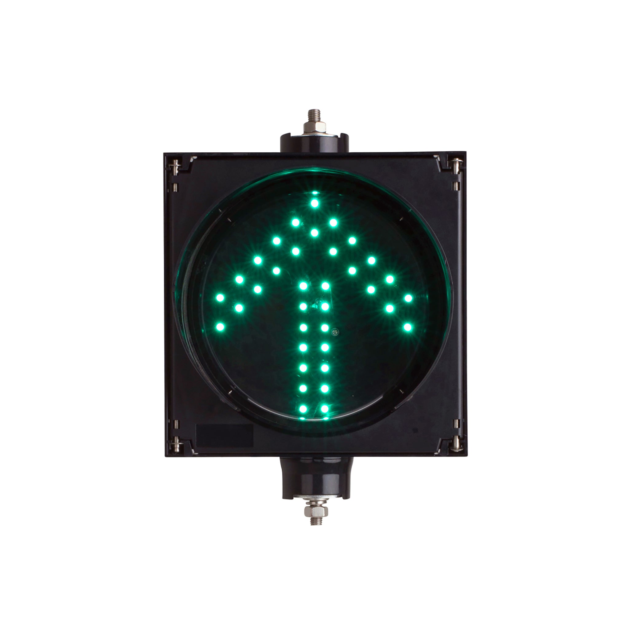 BNR Single Aspect 200mm LED Traffic Light 12-24VDC or 85-265VAC - Arrows and Colours, Flasher Module Options