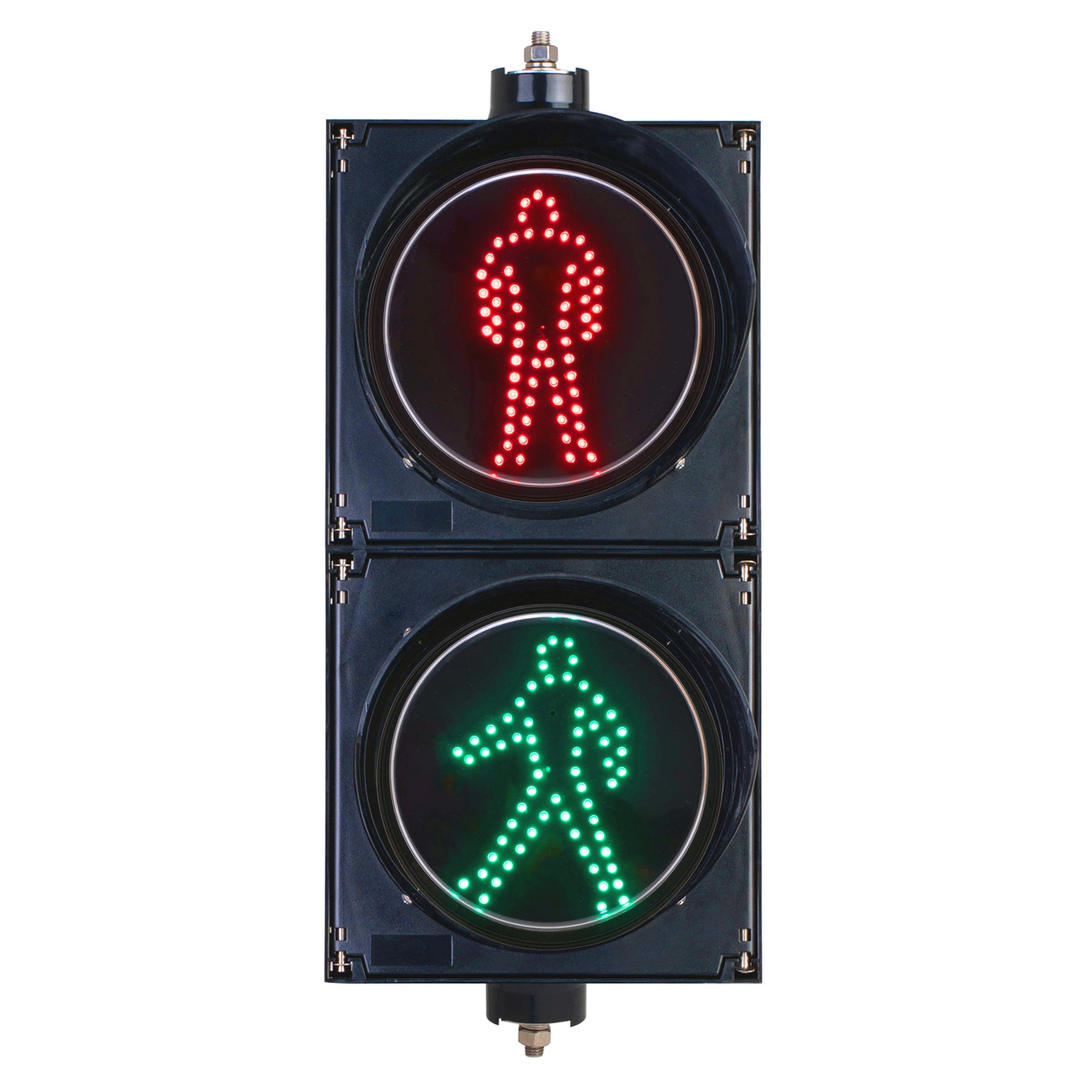 BNR BNR 2 Aspect 200mm Pedestrian LED Traffic Lights 12-24VDC or 85-265VAC - Red Man & Green Walking Man - BNR Industrial