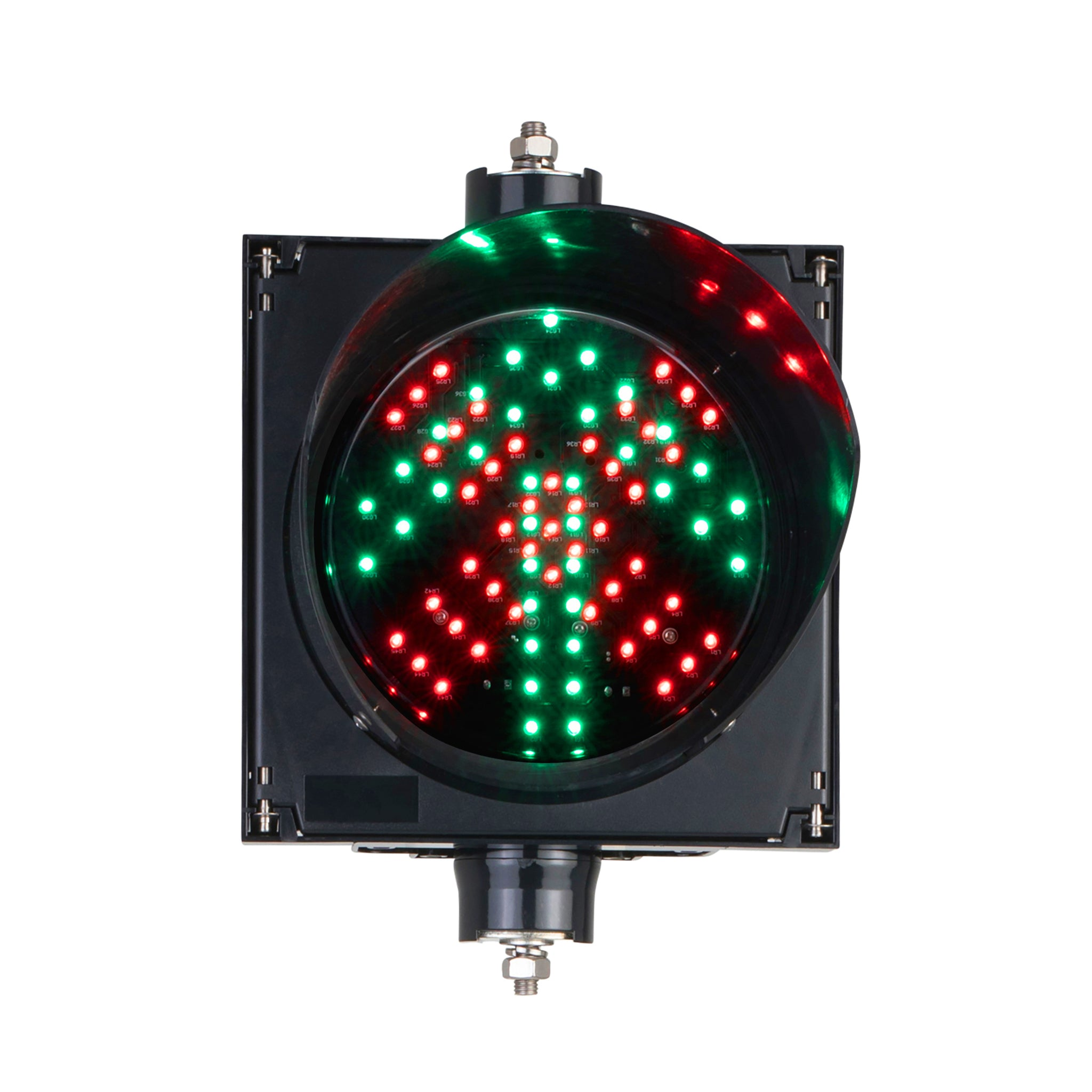 BNR Single Aspect 200mm Lane Control LED Traffic Light IP55 12-24VDC or 85-265VAC - Red X and Green Arrow Combination