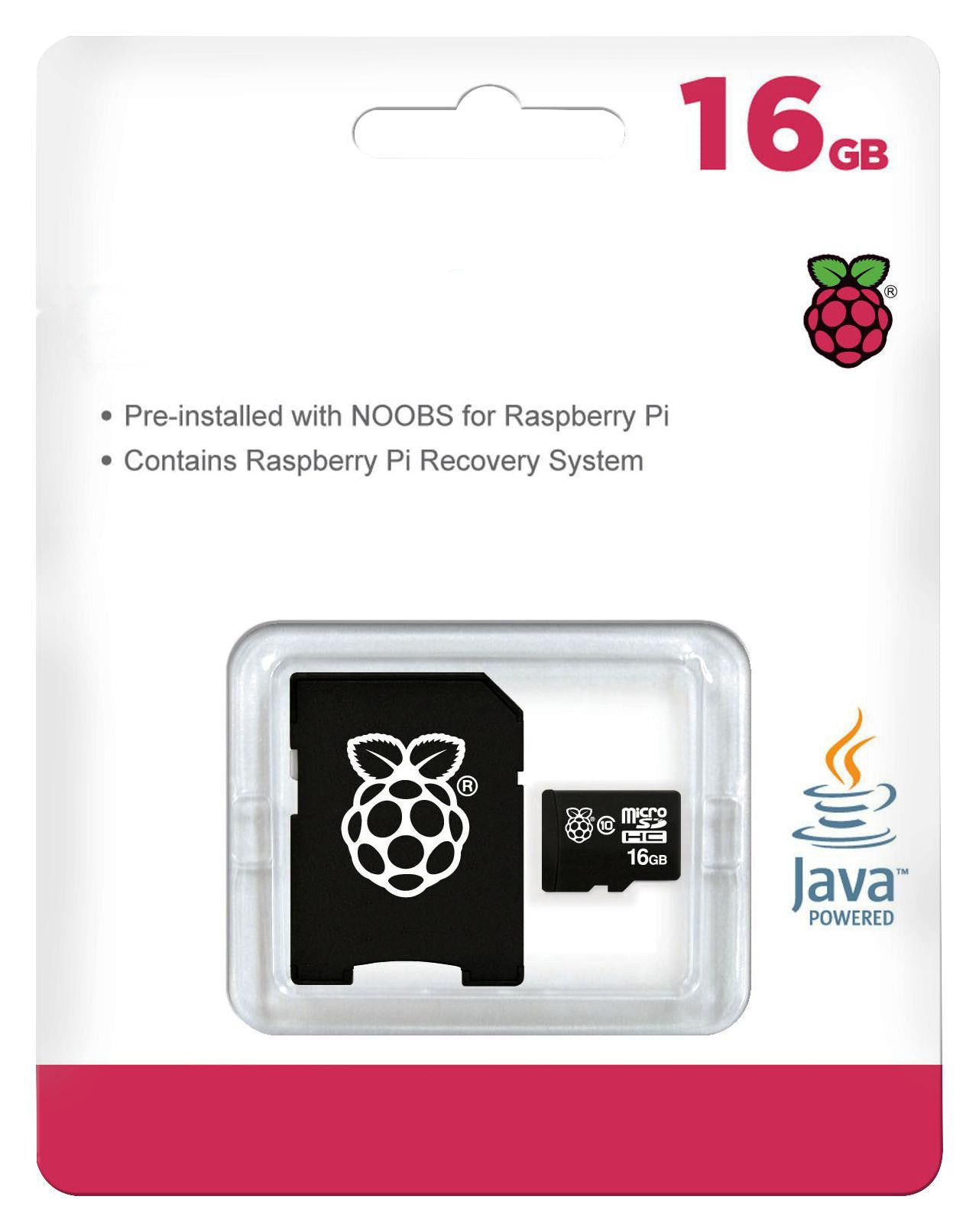 16GB Micro Sd Pre-installed NOOBS for Raspberry Pi Software