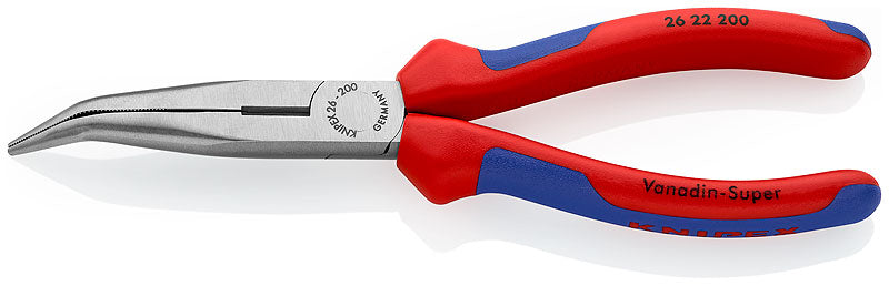 KNIPEX Angled Snipe Nose Side Cutting Pliers 200mm - 26 22 200