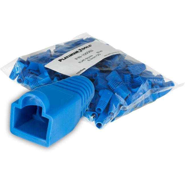 6.5MM Blue RJ45 Cable Protector - 100 Pack - BNR Industrial