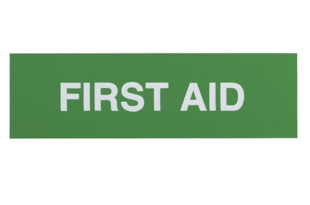 BNR Adhesive First Aid Sign - 100x30mm - BNR Industrial
