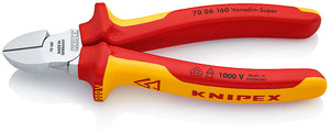 KNIPEX Diagonal Type VDE 1000V Wire Cutters, 160mm Overall Length - BNR Industrial