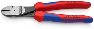 KNIPEX High Leverage Diagonal Type Wire Cutters, 200mm Overall Length - 74 02 200
