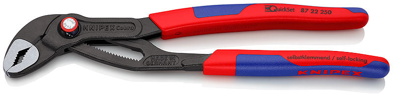 KNIPEX KNIPEX Cobra® QuickSet Hightech Water Pump Pliers 250mm - 87 22 250 - BNR Industrial