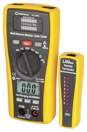 2 in 1 Network Cable Tester and Digital Multimeter - BNR Industrial