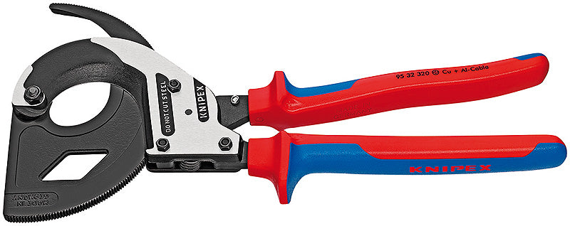 KNIPEX KNIPEX Cable Cutters, Ratchet Principle, 3 Stage - 95 32 320 - BNR Industrial