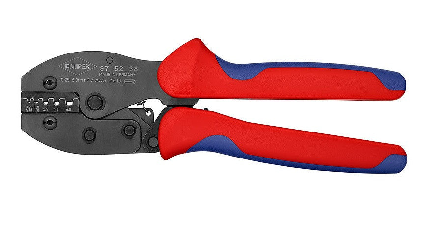 KNIPEX KNIPEX PreciForce® Insulated and Non-insulated Bootlace Crimper (Ferrules) - Up to 6mm - 97 52 38 - BNR Industrial