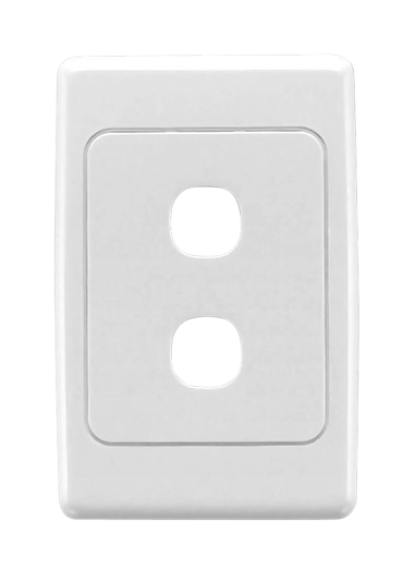 Clipsal CLIPSAL 2032VH Flush Surround and Grid Plate, 2 Gang, Vertical/Horizontal Mount - BNR Industrial