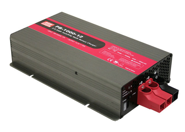 Mean Well MEAN WELL PB-1000 Series 1000W Intelligent Single Output Battery Charger - BNR Industrial