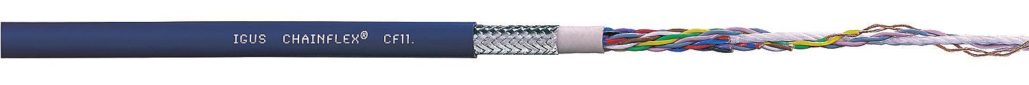 igus igus Chainflex CF11 - TPE, Oil and Microbe Resistant, PVC and Halogen Free, Twisted Pair, Shielded - BNR Industrial