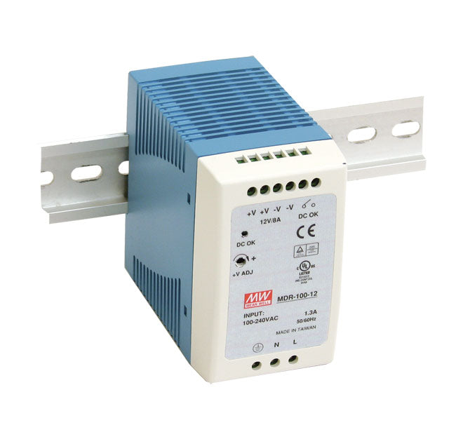 Mean Well MEAN WELL MDR-100 DIN Rail PSU - BNR Industrial