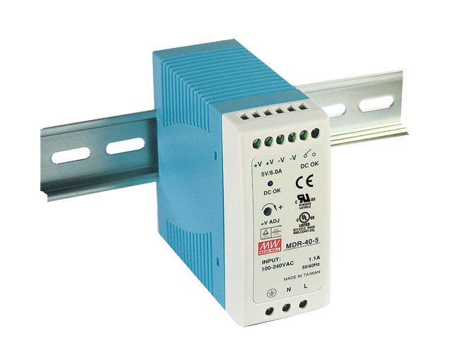 Mean Well MEAN WELL MDR-40 DIN Rail PSU - BNR Industrial