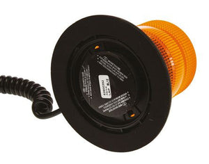Industrial 10-30VDC Xenon Amber Flashing Strobe Beacon with Magnetic Base - BNR Industrial