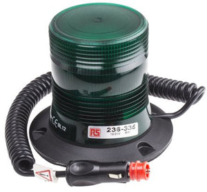 10-30VDC LED Green Flashing Strobe Beacon with Magnetic Base