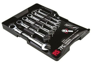 RS Pro 7 Pieces Chrome Vanadium Steel Metric Ratchet Spanner Set - BNR Industrial