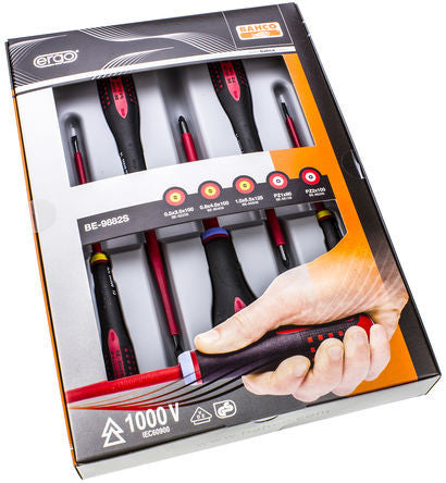 Bahco Bahco VDE 1000V 5 Piece Engineers Screwdriver Set - BNR Industrial