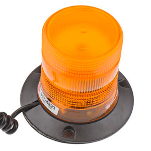 10-30VDC LED Amber Flashing Strobe Beacon with Magnetic Base