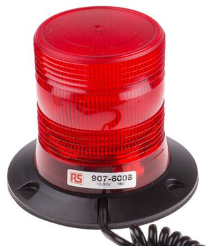 10-30VDC LED Red Flashing Strobe Beacon with Magnetic Base
