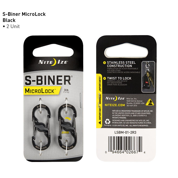 Nite Ize Innovation S-Biner MicroLock (Twin Pack) - BNR Industrial