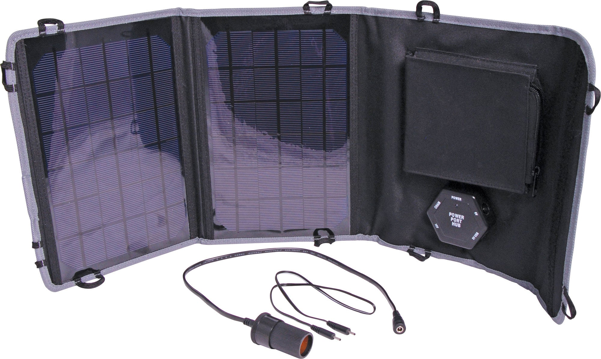Powertran Powertran 10W 6 -15V Fold Out Portable Solar Battery Charger - BNR Industrial