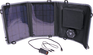 Powertran 10W 6 -15V Fold Out Portable Solar Battery Charger - BNR Industrial