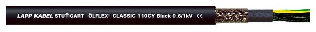LAPP KABEL ÖLFLEX® CLASSIC 110 CY 0,6/1 kV Black UV and Weather Resistant PVC Shielded Control Cable