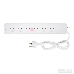 ARLEC 6 Outlet Slimline Powerboard with Surge Protector - BNR Industrial