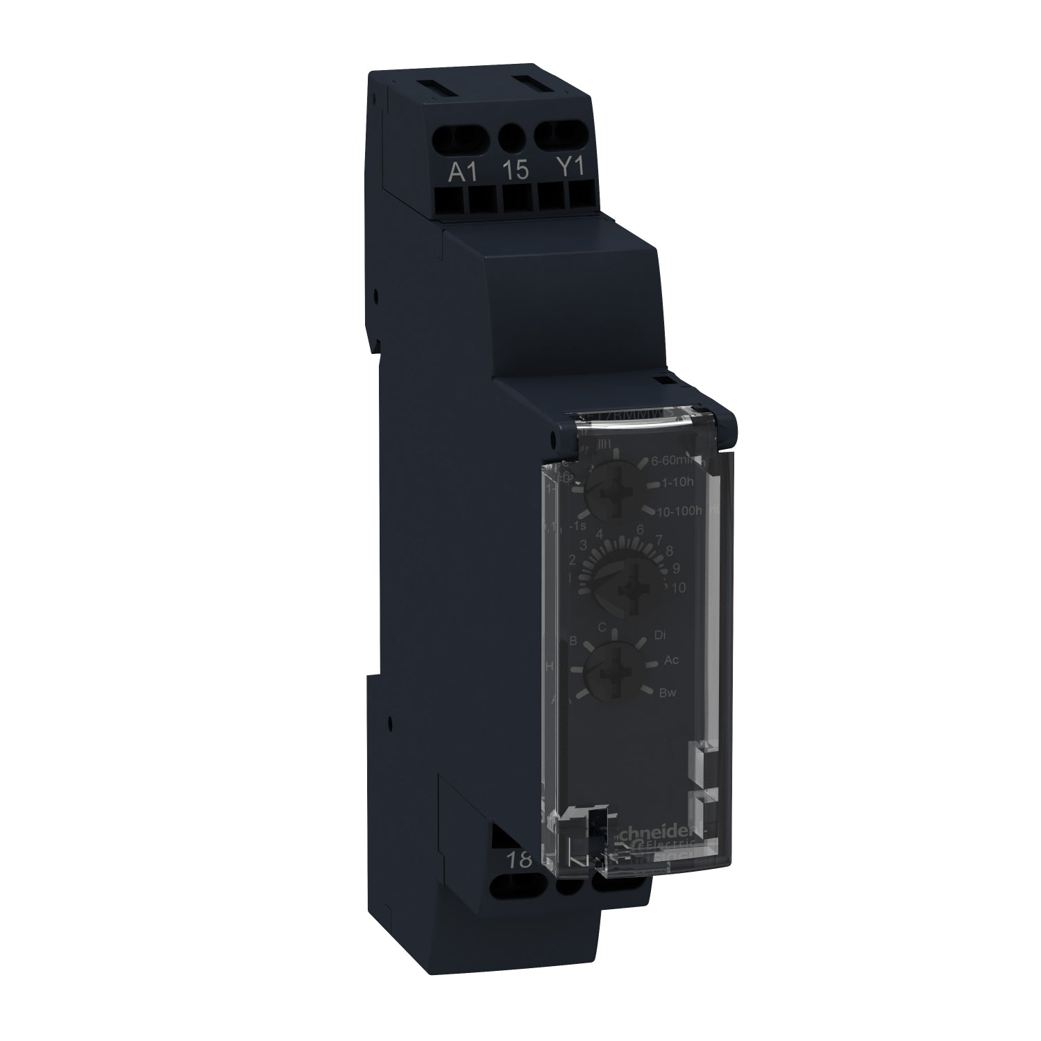 Schneider Electric Schneider RE17RMMW Multi Function Timer Relay, Screw, 0.1 s → 100 h, SPDT, 2 Contacts, SPDT, 12 → 240 V ac/dc - BNR Industrial