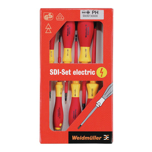 Weidmuller SDI VDE Insulated Screwdriver Set S2.5-5.5/PH1/2 - BNR Industrial