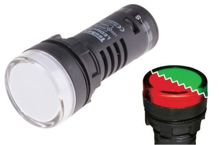 RS Pro 22mm IP65 Dual Colour Red/Green LED Pilot Light Indicators - BNR Industrial