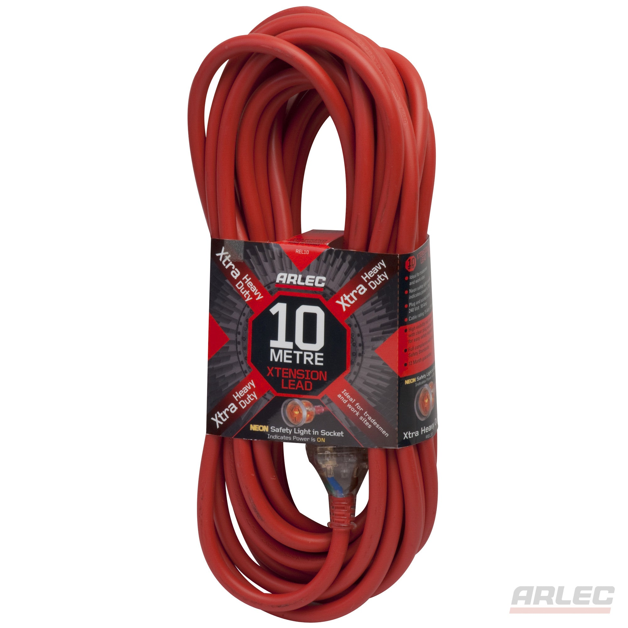 Arlec ARLEC Extra Heavy Duty - 10 Meter Extension Lead - REL10 - BNR Industrial