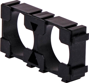 Double and Triple 18650 Interlocking Rectangle Battery Holder - BNR Industrial