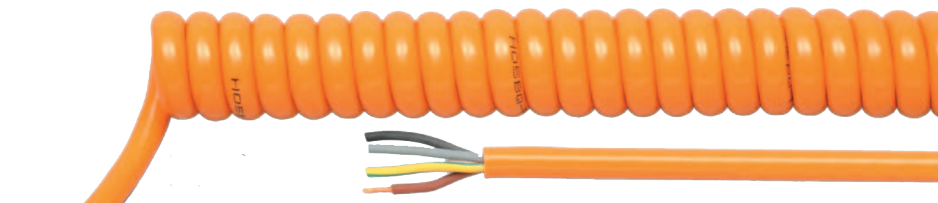 HELUKABEL HELUKABEL PUR Orange Spiral Cable - BNR Industrial