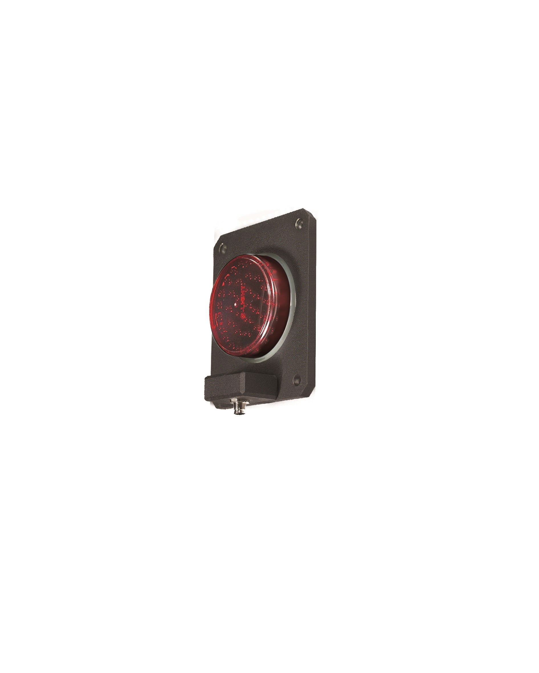 Qlight Qlight SSL100M 1 Aspect 92mm Surface Mount IP68 Metal Body LED Traffic Light - BNR Industrial