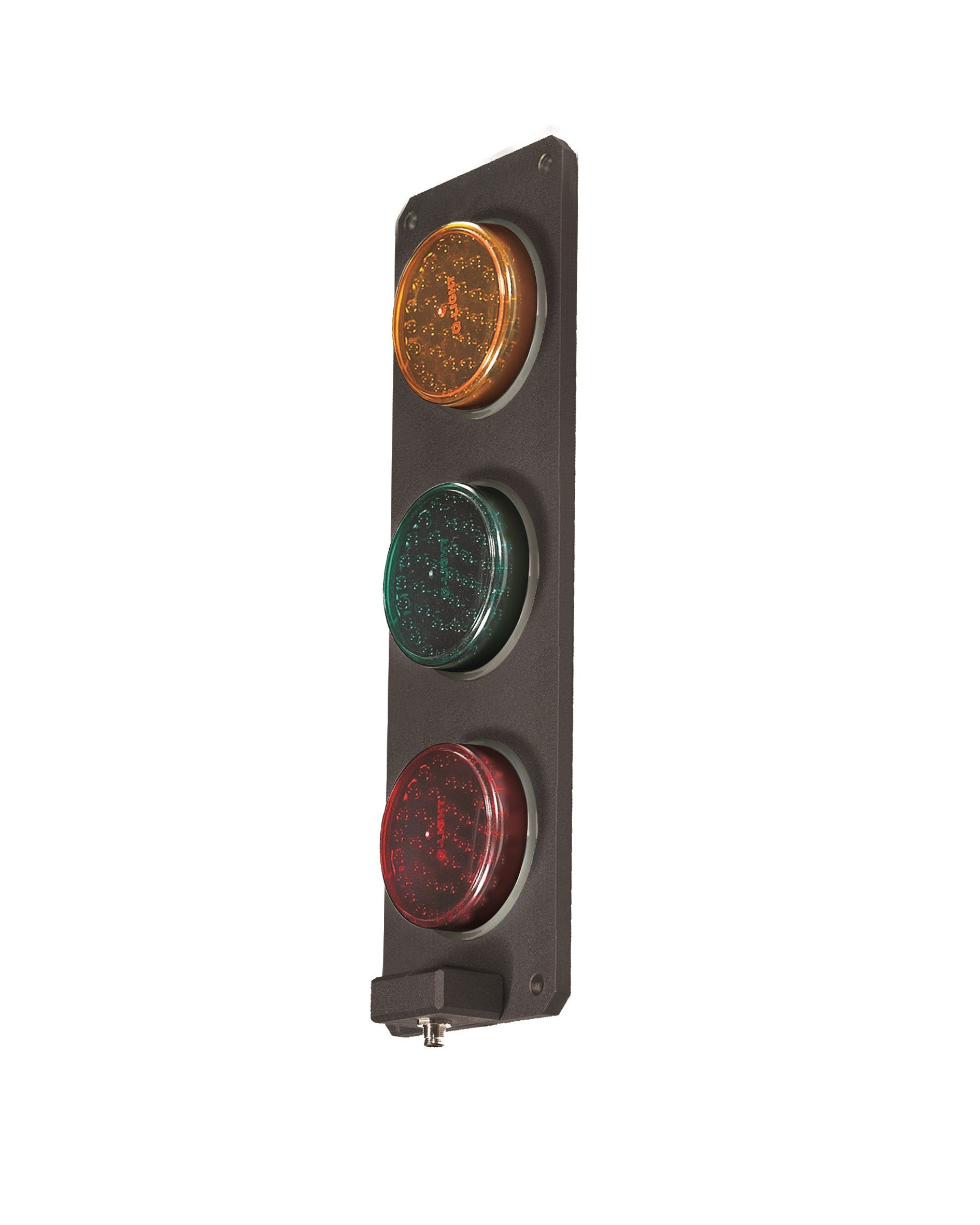 Qlight Qlight SSL300M 3 Aspect 92mm Surface Mount IP68 Metal Body LED Traffic Light - BNR Industrial