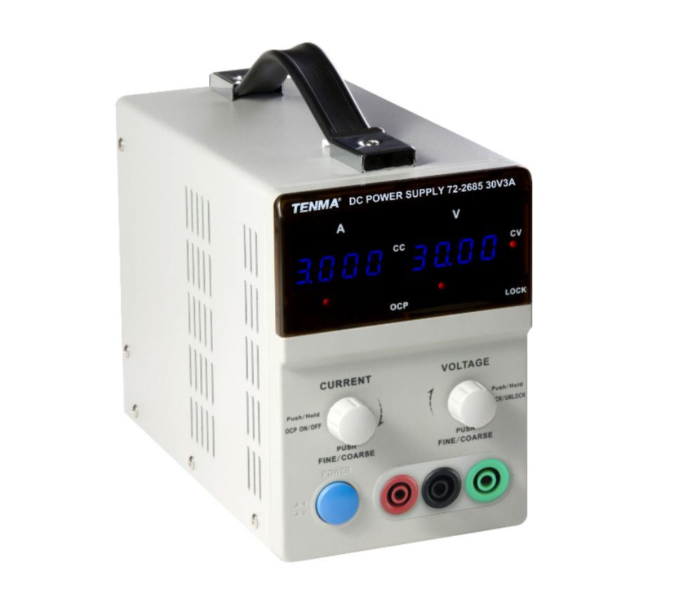 TENMA TENMA 72-2685 Bench Top Power Supply, Linear, Adjustable, 1 Output, 0V-30 V, 0A-3A - BNR Industrial