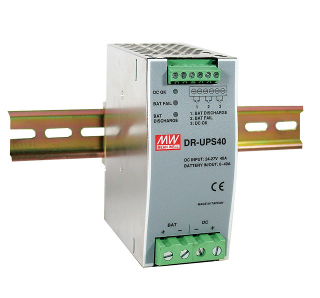 Mean Well MEAN WELL DR-UPS40 UPS Module DIN Rail - BNR Industrial