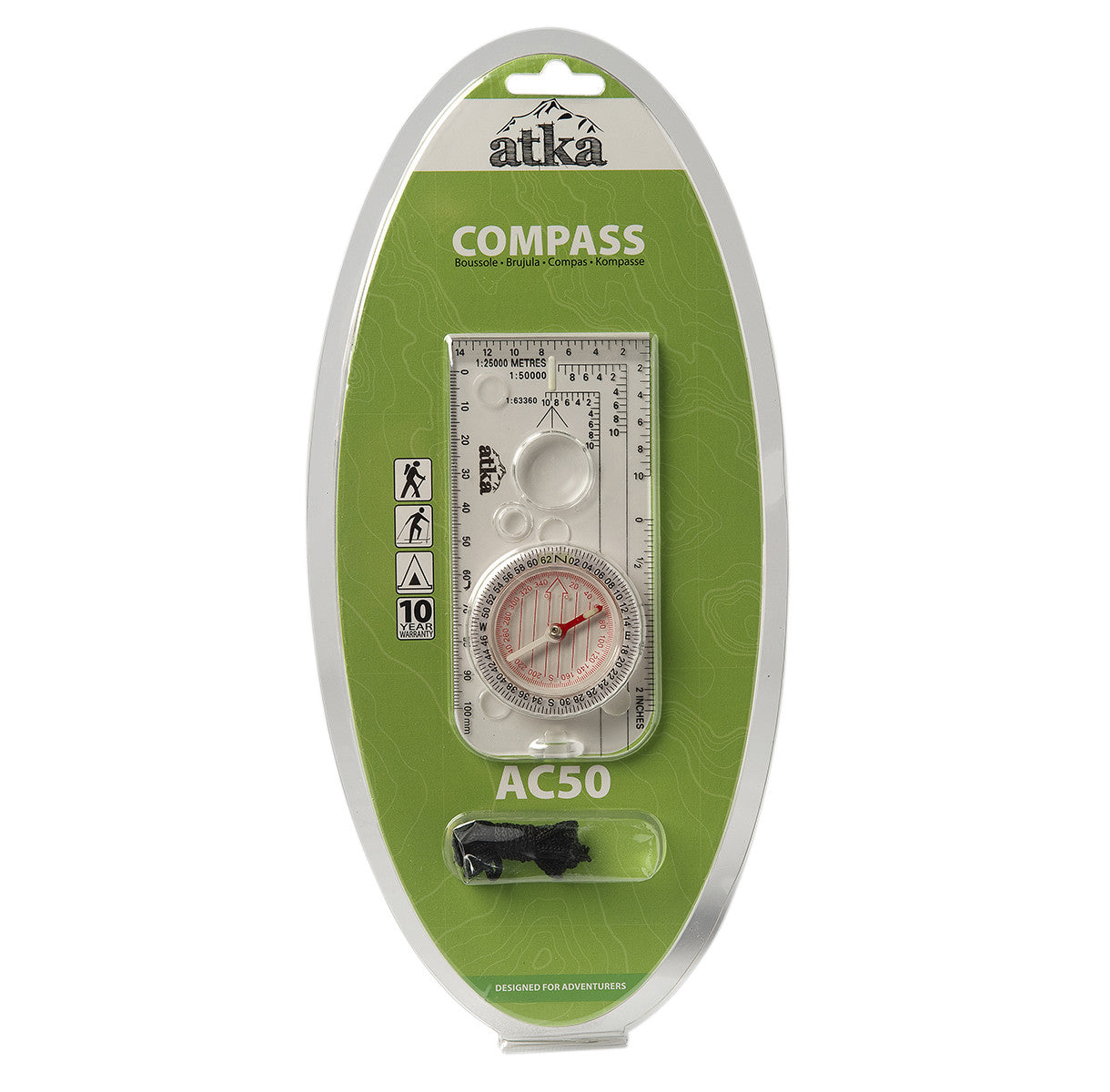 Atka Atka AC50 Orienteering Baseplate Compass - BNR Industrial