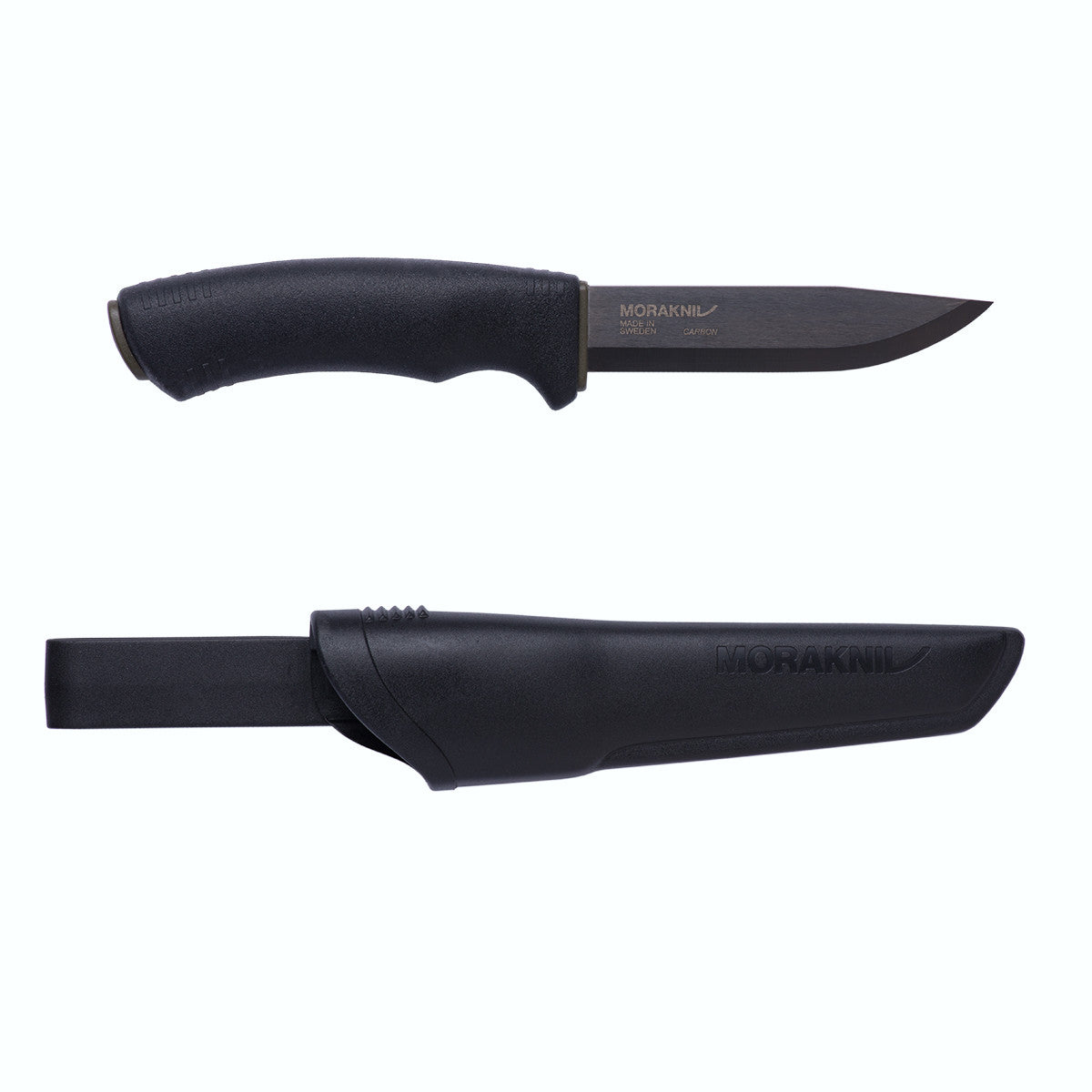 Morakniv Morakniv Bushcraft Black High Carbon Steel Outdoor Knife with Clam Sheath - BNR Industrial
