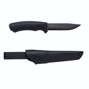 Morakniv Bushcraft Black High Carbon Steel Outdoor Knife with Clam Sheath - BNR Industrial