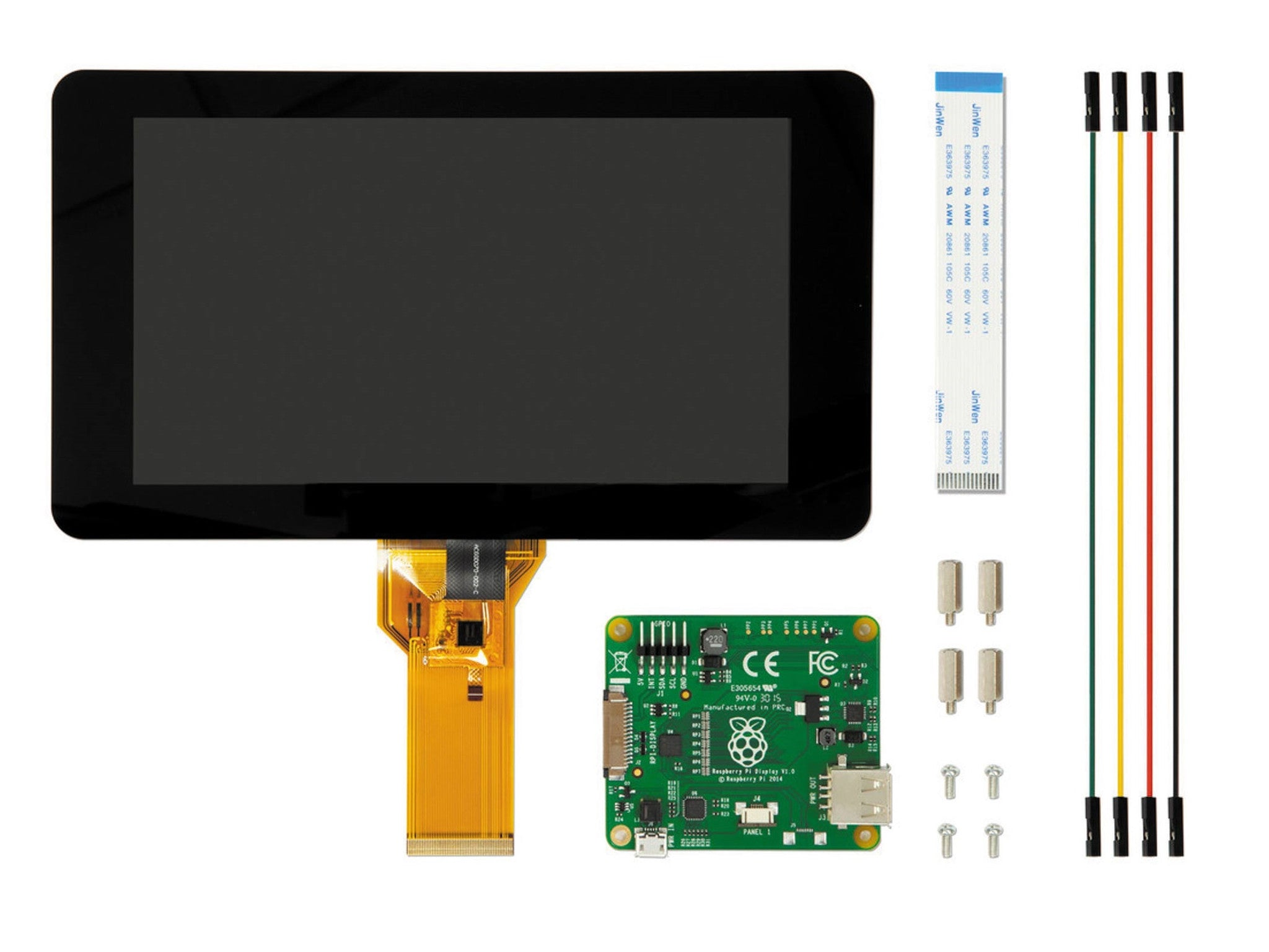 "Raspberry Raspberry Pi Official 7"" Capacitive Touch Screen Display - BNR Industrial"