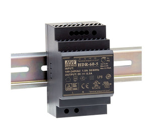 MEAN WELL HDR-60 Ultra Slim Step Shape DIN Rail PSU