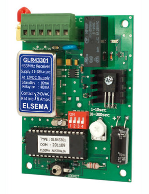 ELSEMA GLR43301, 1 Channel Gigalink™ Series 433MHz Receiver - 11-28VAC/DC in - BNR Industrial