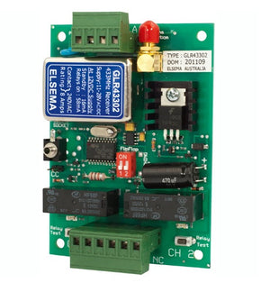 ELSEMA GLR43302, 2 Channel Gigalink™ Series 433MHz Receiver - 11-28VAC/DC in - BNR Industrial