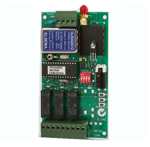 ELSEMA GLR43303, 3 Channel Gigalink™ Series 433MHz Receiver - 11-28VAC/DC in
